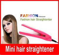 Venda por atacado Professional Mini Hair Styler Ceramic Straightening Plate Straightener Irons Hair Styling Tools for Travelling Camping.