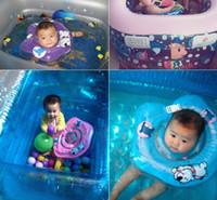 bebê nadando anel nadar tubo venda por atacado-Bebê dos desenhos animados anel de natação Nova Multi-Função Bebê Criança Aids Infantil Swim Pescoço Flutuar Tubo Inflável Natação Anel de Segurança Cor Aleatória