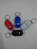 Wholesale Keychain Whistle Locator - Free DHL Remote Key Finder Locator Find Lost Keys Mobile Chain Mobile finder Purse Finder Keychain Whistle Sound Control With ON OFF Switch