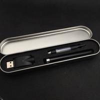 Wholesale E Cigarette Tin - wax oil vaporizer pen bud pen electronic cigarette kit with tin case electric oil vaporizer mini vaporizer pen 510 touch vapor pen e cig kit