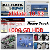 Wholesale Alldata Heavy Trucks - 2017 Auto Repair Software Alldata 10.53+Mitchell 2015+ Heavy truck software + Vivid etc 45 in1 with 1TB Hard Disk Free DHL Shipping