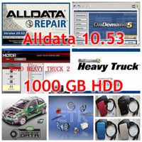 Wholesale 2017 Auto Repair Software Alldata Mitchell Heavy truck software Vivid etc in1 with TB Hard Disk Free DHL Shipping