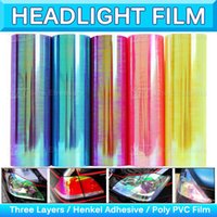 Chameleon Car Headlight Tint Pearl Nevoeiro Neve Folheado Vinyl Wrap Neo Light Film Sticker HeadLamp Protector Decal Sheet 0.3x10m 1x33Ft