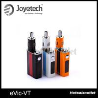 Wholesale joyetech evic e - Joyetech Evic-VT Kit E cigarette 5000mAh Joyetech Evic VT Starter Kit Joye EVIC-VT Temperature Control Starter Kit 100% Authentic