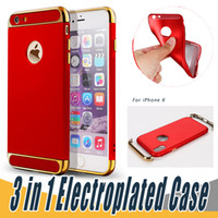 Wholesale Galaxy Note Thin Case - 3 in 1 Electroplated Soft Case Ultra Thin TPU Cell Luxury Back Cover For iPhone 8 X 7 6 6S Plus 5 Samsung Galaxy S8 S7 Edge Plus Note 8 J7