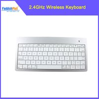 Wholesale Mini Laptop For Dropshipping - Wholesale-New Arrival Mini 2.4GHz Wireless Bluetooth V3.0 78-Key Keyboard for the New iPad Free Shipping & Dropshipping
