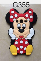 Wholesale Galaxy Grand Cute Cases - 3D Mickey Minnie Mouse Silicone gel rubber soft Case For Samsung Galaxy Grand Prime G530 Core 2 G355 A5 LG L70 L90 Cartoon Cute Lovely cover