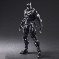 Wholesale action figure play arts - LilyToyFirm Play Arts Kai Superhero Civil War Black Panther 26cm PVC Action Figure Collectible Model Toy Gifts