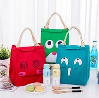 Wholesale insulated lunch bag black - New Arrivals Cartoon cute Thermal Lunch Bag Students lunch cooler bags outdoor picnic insulated tote bags