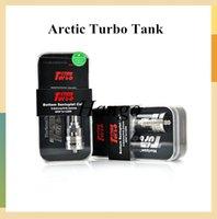 horizont arktischer turbozerstäuber sub großhandel-Großhandels-Authentische Horizon Arctic Turbo Tank Turbo RDA Zerstäuber Riesige Verdampfer 3,5 ml Arctic Turbo Sub Ohm Tank