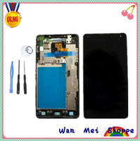 Atacado-Glass Screen Display LCD Touch digitalizador Assembléia Habitação para LG Optimus G E975 Ferramentas W