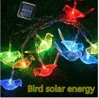 Wholesale Solar Bird Light Garden - Bird solar lights2.5m 10LED Animals LED small night lamp children room decoration Christmas garden decorative light string