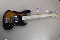 Wholesale sunburst electric jazz guitar resale online - New Arrival Standard String Jazz Bass Guitar electric guitar