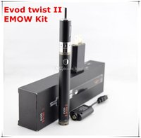 Wholesale Evod Batery - New design E Cigarette Kit Electronic Cigarette Evod twist II Batery+EMOW Atomizer dual coil Airflow control Tank Emow Vaporizer Ecigs kits