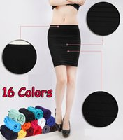 Wholesale Skirt Woman Fashion Korea - Skirts Womens 2015 Brand Summer Women Mini Skirt Fashion Saias OL Short Faldas Korea Pencil Jupe Knit Cotton Solid Etek 99851