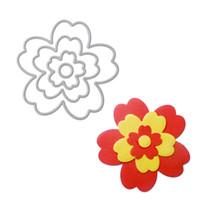 Wholesale Craft Stencils - 4 Pcs Flower Metal Cutting Dies Stencils For Scrapbooking Album Decorative Embossing DIY Craft Paper Card Template