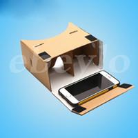 3d gläser für handy großhandel-3D Brille VR Brille DIY Google Pappe Handy Virtuelle Realität Inoffizielle Pappe VR Toolkit 3D Brille CCA1785 100St