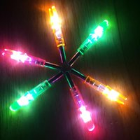Wholesale New Luminous LED Lighted Fashion Launch Pon Arrow Nock Tail Night Vision Archery for Target Shooting