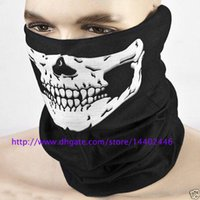 DHL Freeshipping 300pcs Skull Design Multi Function Bandana Ski Sport Moto Biker Scarf Masques faciaux Masque facial