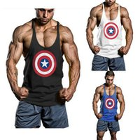 Wholesale Golds Gym Stringer Tank Top Men Bodybuilding Clothing and Fitness Mens Sleeveless Shirt Sports Vests Cotton Singlets Muscle Tops