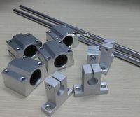 Wholesale Linear Support 8mm - 2pcs Cylinder Liner Rail Linear Shaft 8mm-L500mm + 4pcs SK8 Rod Shaft Support + 4pcs SC8UU linear block CNC