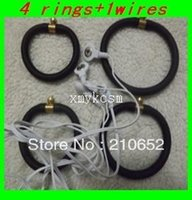 Wholesale Toleto Ring - Free shipping 4 rings+1wires for Enhancement,Cock Enlargers,sex toys for men,Penis Shock pulse Toleto erection attachment