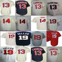 Wholesale Womens Bobs - 2017 Mens Womens Youth Toddlers Cleveland Pedro Cerrano 14 Larry Doby 19 Bob Feller Beige Blue White Grey Cool Flex Base Baseball Jerseys