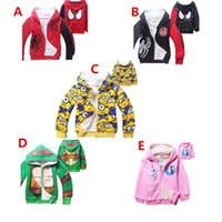 Wholesale Cartoon Boy Hood - Kids Zipper Hoodie Coat Yellow Man Despicable Me Children Jacket Boys Girls Cartoon Minions Hooded Outfit children Hoodies Sweat shirts