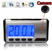 Wholesale Camera Motion Clock - spy device DVR Hidden Clock Camera HD Cam Camcorder Remote Clock Motion Detection