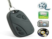 1280 * 960 Car Keychain Spy Hidden Cam Support 2-16GB TF Card Mini Câmera Digital 10pcs / lot