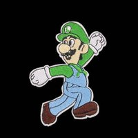Wholesale Iron Embroidered Patch Mario - 2.7 inch hot sale! SUPER MARIO Brother Embroidered Iron On Patch Applique Badge KIDS sew on patch Applique GP-032 Wholesale