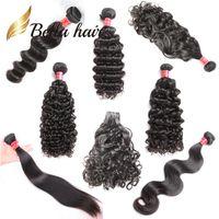 natürliche haarproben großhandel-Bella Hair® Sample Retail 8-34 Zoll unverarbeitetes Menschenhaar bündelt gerade Körperwelle lose tiefe lockige Wasserwelle natürliche Welle