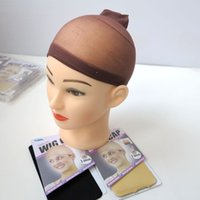 Wholesale hairnets for hair for sale - 2pcs Set Superior Quality Deluxe wig cap hairnets for hair extensions hair wigs wearers Black beige brown Optional hot sale
