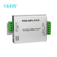 Wholesale Data Repeater - DC 12V 12A Data Repeater RGB Color Changing Signal Amplifier for SMD 3528 5050 LED RGB Strip Light, Aluminum Shell