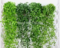Wholesale Artificial Grape Ivy Plants - 120cm 90cm Artificial Grape leaves Wall Hanging Green plants Home Decoration Ivy Simulation Rattan Green Pineapple