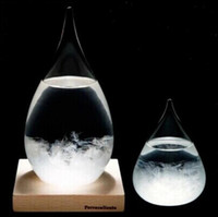 Wholesale Crystal Glass Globe - Storm Glass Weather Glass Weather Forecast Bottle 20.5*11.5cm Desktop Drops Crystal Tempo Water Drop Globes Creative Storm Glass OOA3625