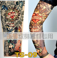 Wholesale Sun Sleeve Tattoo Designs - Wholesale-Sun cream sleeve cyling male hiking ride fashion tattoo sleeve viscose long design 2of one pair
