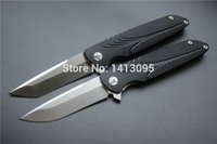 Wholesale Brian Nadeau Tactical Survival Typhoon Flipper Bearing Folding Knife D2Stain Blade Black Alu Sheet Handle EDC tool