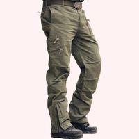 plus größe armee ladung hose großhandel-101 Airborne Jeans Casual Training Plus Größe Baumwolle Atmungsaktive Multi Pocket Military Armee Camouflage Cargohose Für Männer