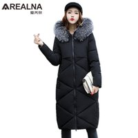 Wholesale Collor Fur - Especially Female Women's Warm Coats 2017 Winter Fur Collor Thick Hooded Parkas Lazy Oaf Long Down Jacket Thick Warm Winter Coat
