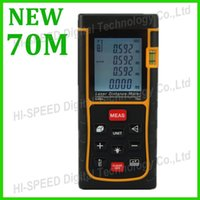 Wholesale Tools Measuring Area - Free Shipping 70m Laser distance meter bubble level Tape tool Rangefinder Rang finder measure Area Volume OEM