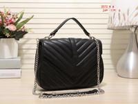 Wholesale Authentic Leather Bags - Authentic women handbag shoulder bag chains canvas designer tassel brand women messenger bag black fashion women tote Free Shipping