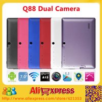 """Wholesale Tablet Allwinner A13 Q88 Rom - Wholesale-DHL Free shipping 7"""" Q88 Tablet PC Allwinner A13 Android 4.1 Capacitive Screen 512MB RAM 4GB 8GB ROM, 10 pcs lot"""