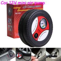 Wholesale Mini Electric Air Pump - Car Styling Inflatable Pump 12V 260PSI Mini Portable Car Air Compressor Tire Electric Inflater Auto Pumps