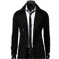 duffle coat toptan satış-Güz-Moda Yeni Marka Erkek Kış Trençkotlar Paltolar Duffle Ceket Erkekler Kış Ceket Peacoat manteau homme Yüksek Kalite