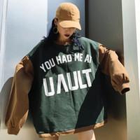 Wholesale Green Lantern Apparel - 2017 Apparel Women's Clothing Hoodies long clothing 100% cotton seven colors chic korea bf fashion new