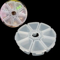 Atacado-Home Living Accessory Plastic Round 8 Cell Compartment Pill Jewelry Organizer Container Storage Box HQ