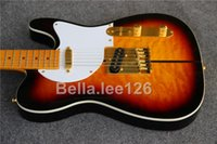 Wholesale Basswood Guitar Body - Wholesale OEM handmade TELE guitars ,very popular hot selling tuff dog logo electric guitar with gold hardware,basswood body
