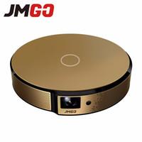 construir proyector dlp al por mayor-Al por mayor- JMGO E8, Proyector HD, 750 ANSI Lumens Smart Beamer, Android incorporado, WIFI, Altavoz Bluetooth. HDMI, USB, soporte TV LED 1080P
