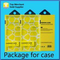 ingrosso scatola del pacchetto del telefono mobile-Custodia universale per imballaggio in plastica PVC Custodia in plastica per imballaggio al dettaglio con inserto interno per iPhone Samsung HTC Custodia per cellulare adatta 5.7 pollici